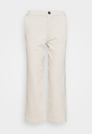 TROUSER HIGH WAIST WIDE LEG - Relaxed fit -farkut - offwhite