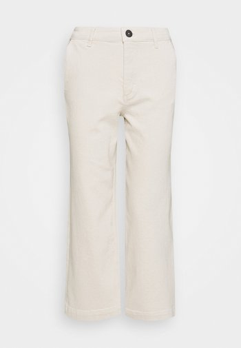 TROUSER HIGH WAIST WIDE LEG - Relaxed fit jeans - offwhite