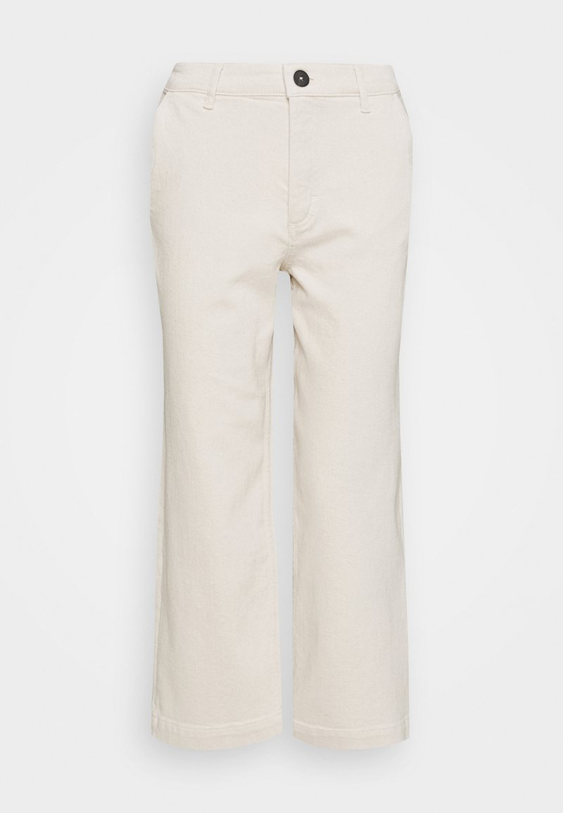 Marc O'Polo - TROUSER HIGH WAIST WIDE LEG - Relaxed fit jeans - offwhite