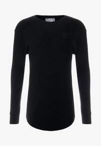 SIKSILK - LONG SLEEVE BRUSHED GYM TEE - Camiseta de manga larga - black