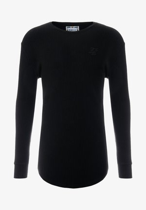 LONG SLEEVE BRUSHED GYM TEE - Bluzka z długim rękawem - black