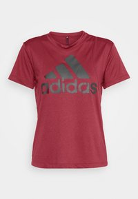 adidas Performance - LOGO TEE - Print T-shirt - legred/maroon - 3