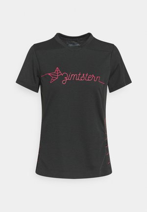 ECOFLOWZ WOMENS - T-Shirt print - pirate black/jester red