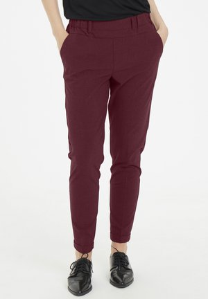 NANCI JILLIAN - Trousers - tawny port