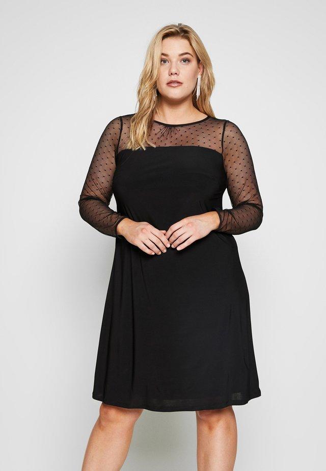 DOBBY SWING DRESS - Vestito estivo - black