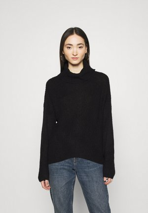 JDYNAGEEM MEGAN ROLLNECK  - Jumper - black