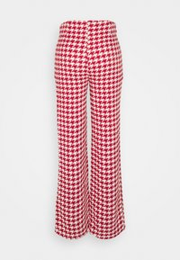 Missguided Petite - COORD SCOOP NECK CROP AND SEAM TROUSER SET - Trousers - red - 3