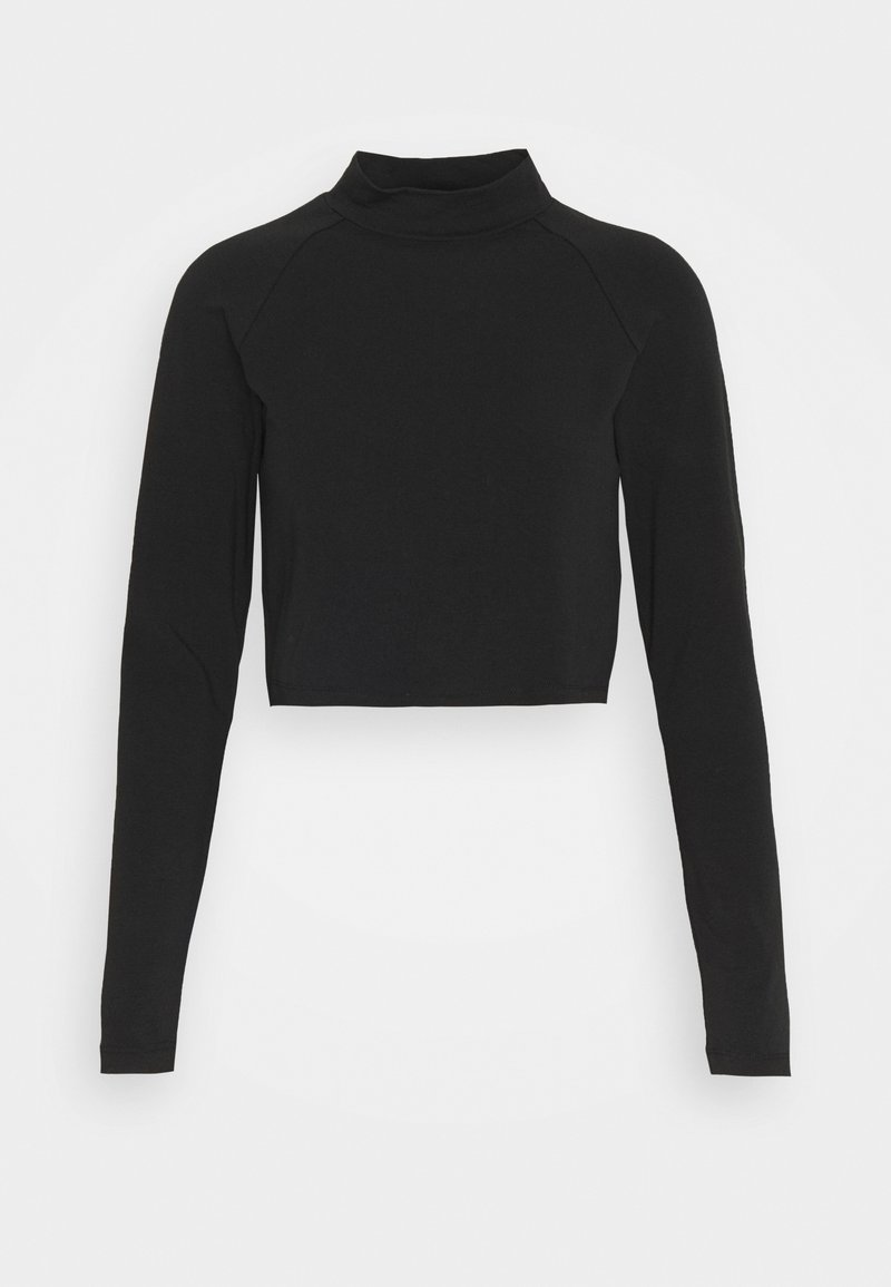ONLY Petite - ONLBELLA CROPPED TOP PETTI - Long sleeved top - black