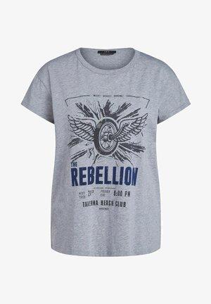 MIT ROCKIGEM PRINT - Print T-shirt - light grey