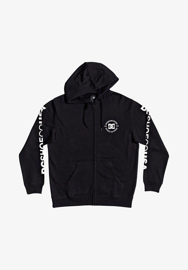 STAR PILOT - veste en sweat zippée - black