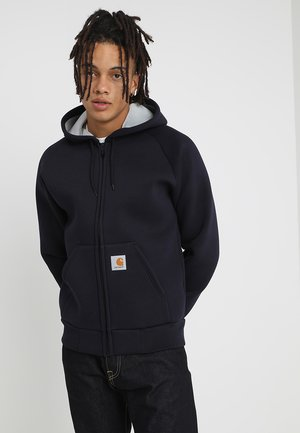CAR-LUX HOODED - Zip-up hoodie - dark navy/grey
