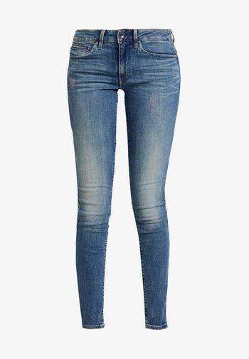 MIDGE ZIP MID SKINNY - Jeans Skinny - lt vintage aged destroy