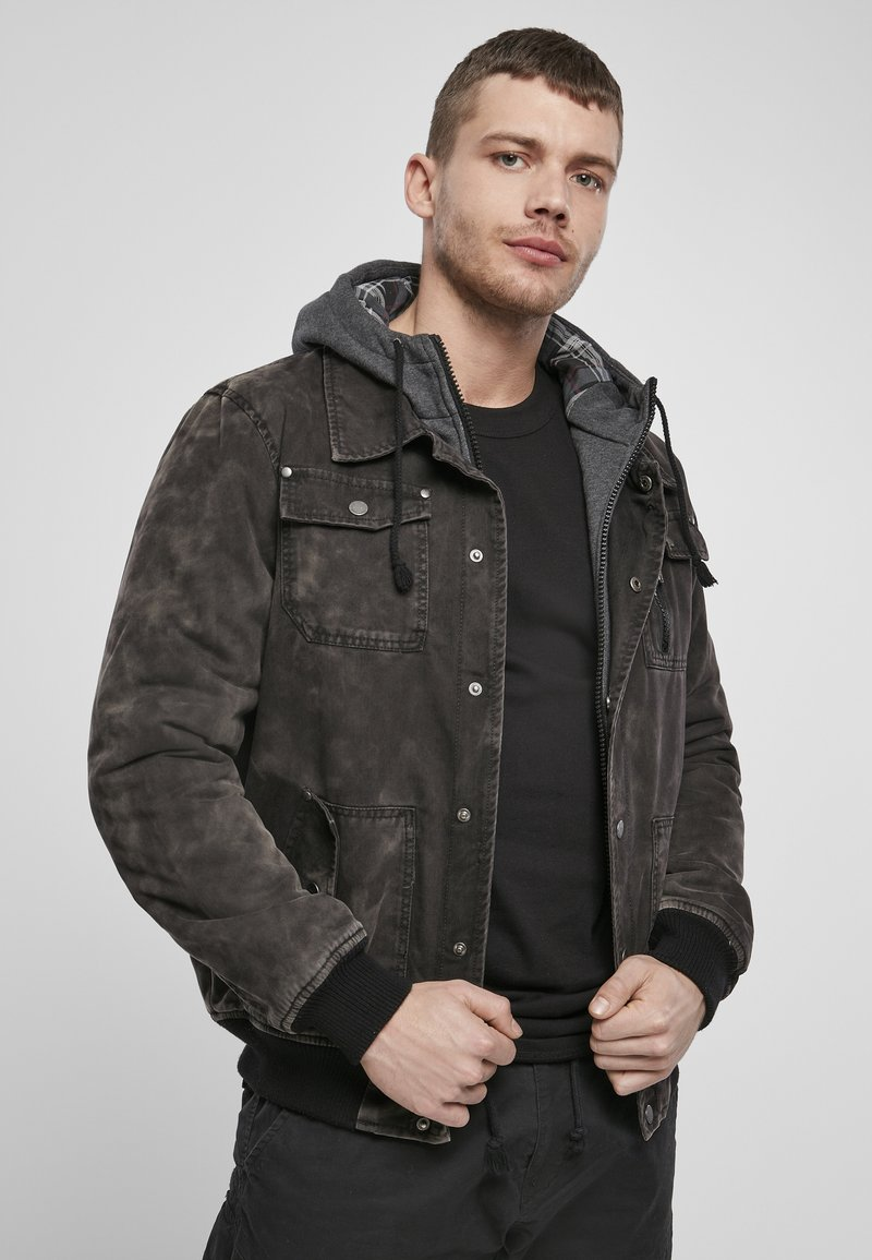 Brandit - DAYTON  - Denim jacket - black