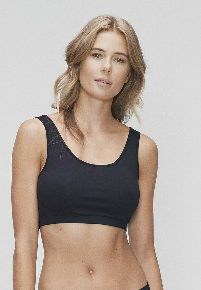 Medium support sports bra - black