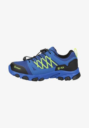 Hiking shoes - royalblue black lime