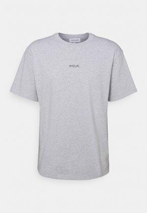 BOXY TEE SS AMOUR/GOTS - T-shirt z nadrukiem - light heather grey