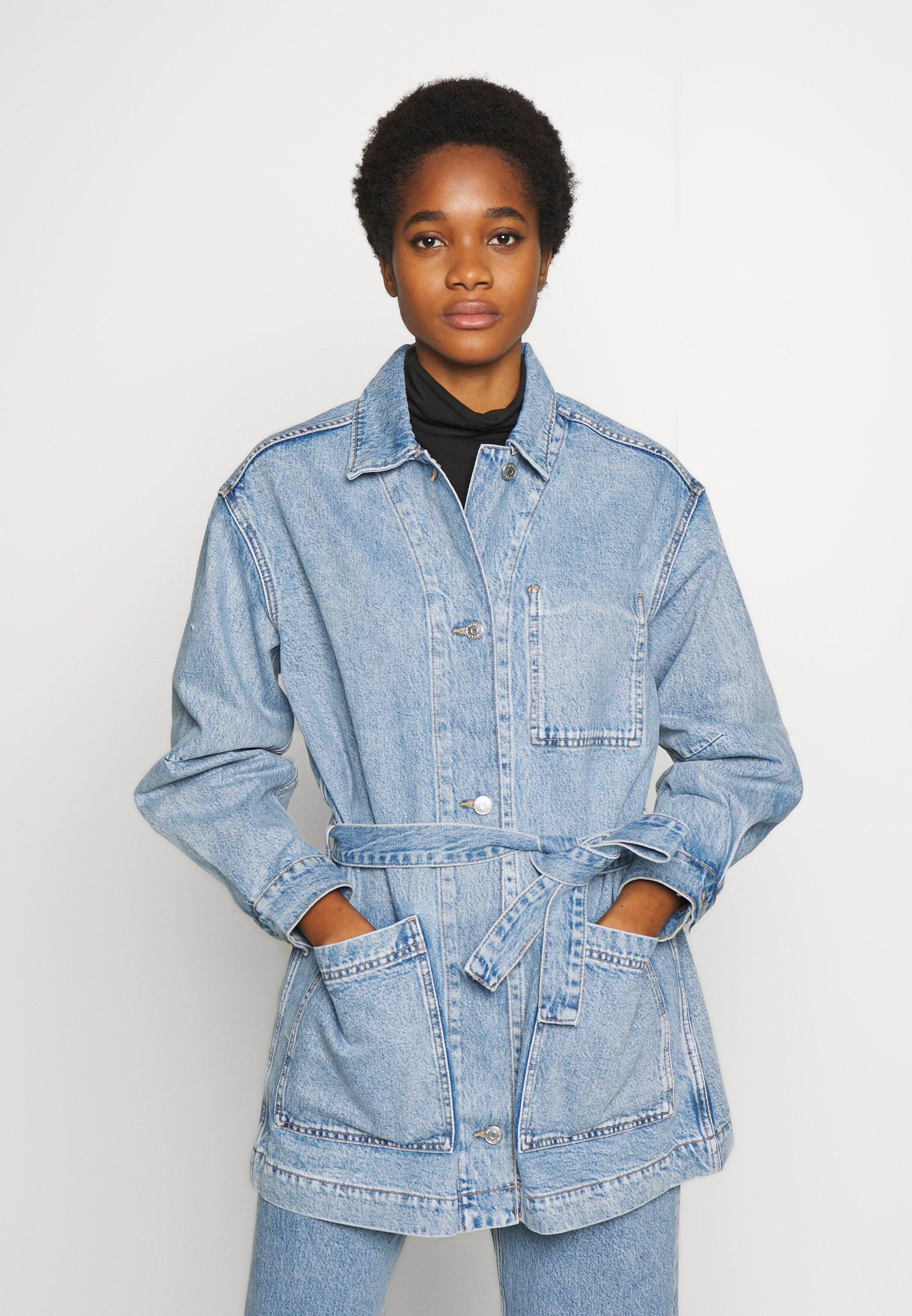Weekday CLAY WORKER JACKET - Manteau court - pen blue - Manteaux Femme 9P93x