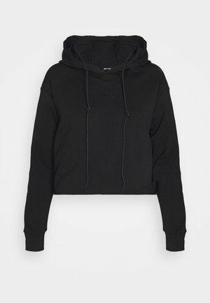 SHE CROP HOODIE - Sweatshirts - black