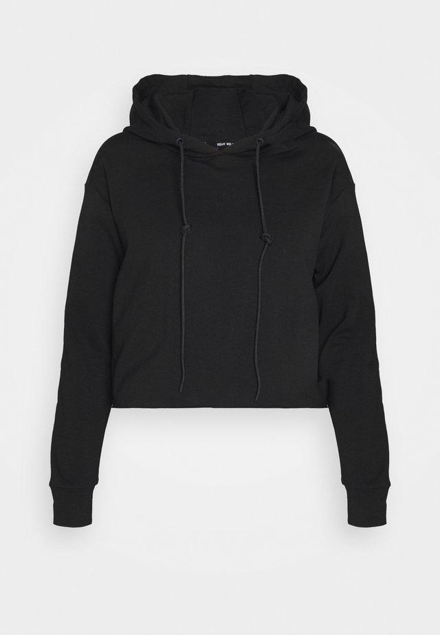 SHE CROP HOODIE - Sweater - black