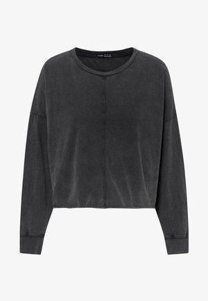 CROPPED  - Long sleeved top - dark grey