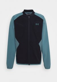 Under Armour - RIPSTOP WIND - Træningsjakker - black/green