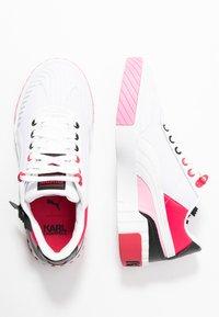 Puma - CALI KARL - Sneakers - white/prism pink - 3