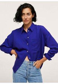 Mango - Button-down blouse - bleu - 1