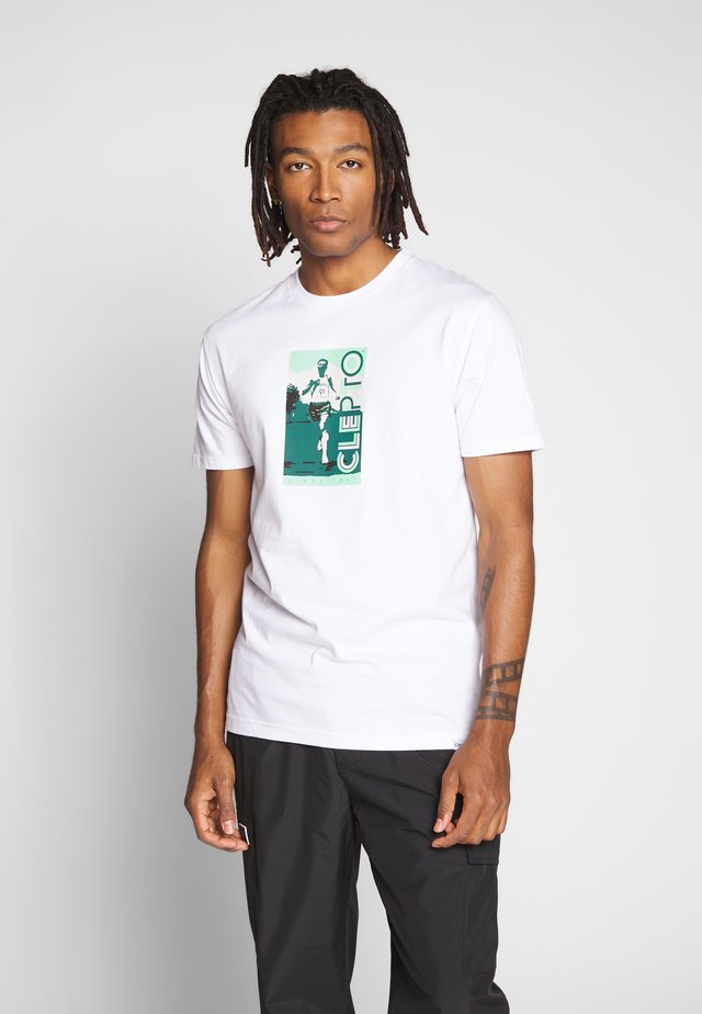 ALWAYS RUNNING - T-shirt z nadrukiem - white