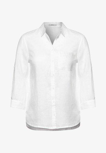 MIT 3/4 ÄRMEL - Button-down blouse - weiß