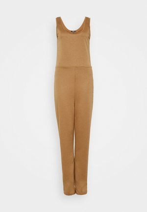 SCOOP NECK LOOPBACK JOGGER CUFF - Jumpsuit - camel