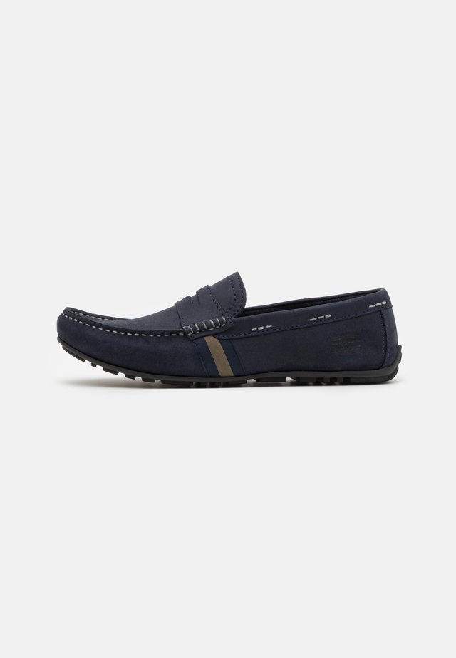 MOSS - Mocassins - navy/brown