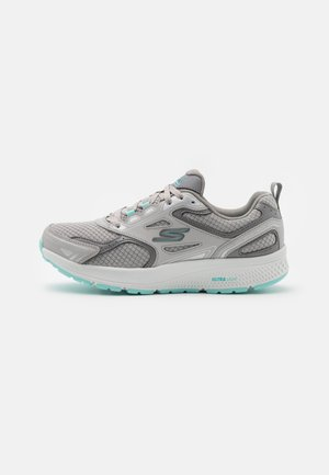 GO RUN CONSISTENT - Neutral running shoes - gray/turquoise