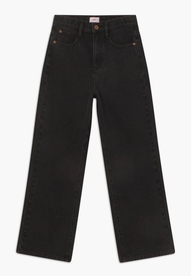 WIDE LEG - Relaxed fit jeans - dusk black