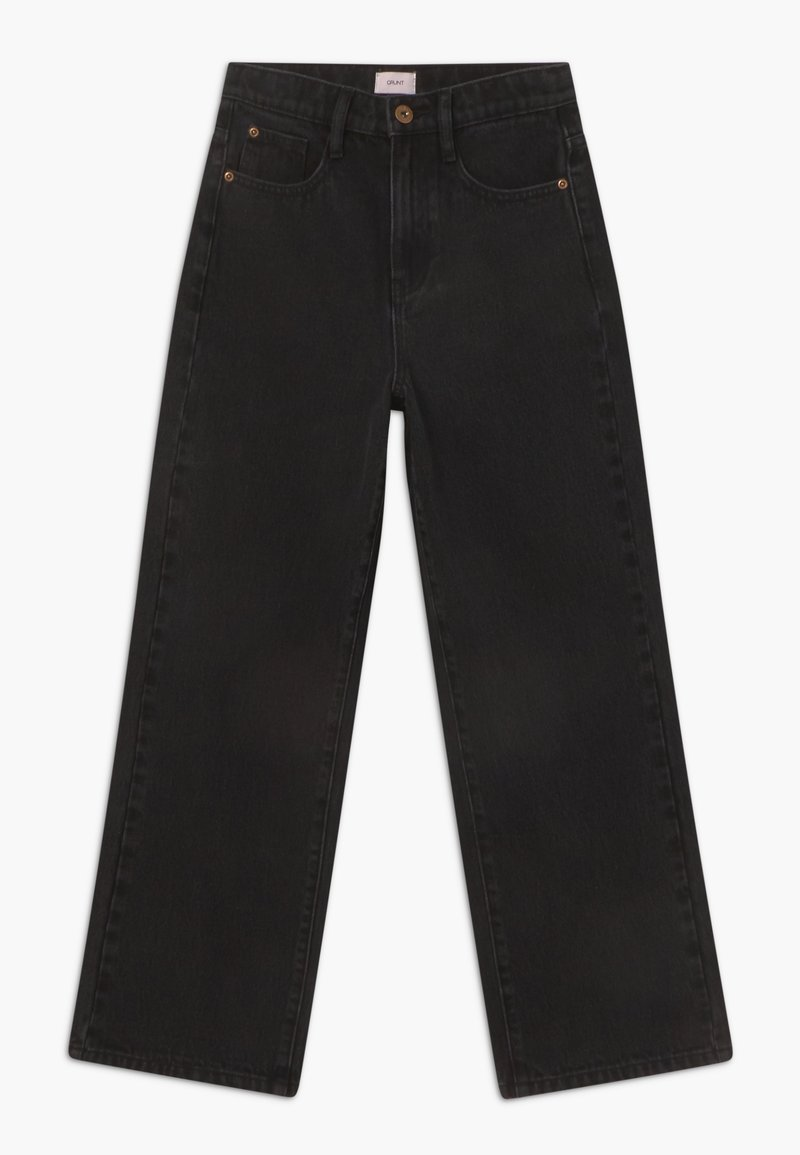 Grunt - WIDE LEG - Jeans Relaxed Fit - dusk black