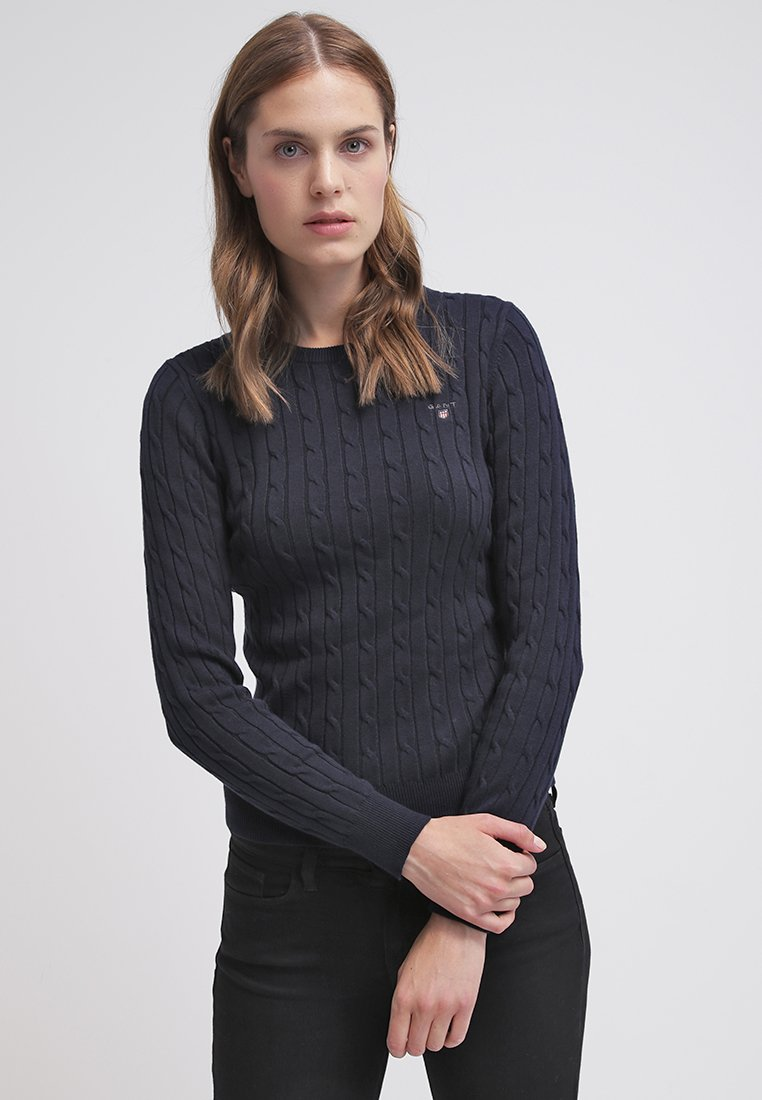 GANT - CABLE CREW - Pullover - evening blue