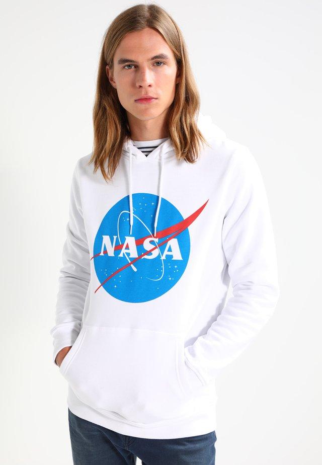NASA HOODY - Felpa con cappuccio - white