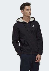adidas Performance - WINTER 3-STRIPES FULL-ZIP HOODIE - Zip-up hoodie - black - 6
