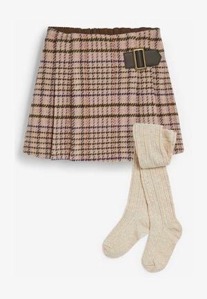 KILT WITH TIGHTS SET - Mini skirt - purple