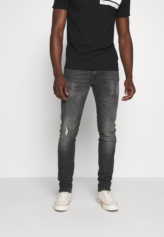 ANBASS AGED - Jeans Slim Fit - medium grey