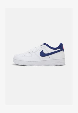 FORCE 1 UNISEX - Trainers - white/deep royal blue/universal red