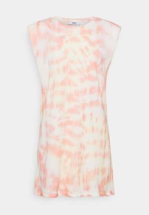 ONLPERNILLE SHOULDER TIE DYE DRESS - Vestido ligero - white