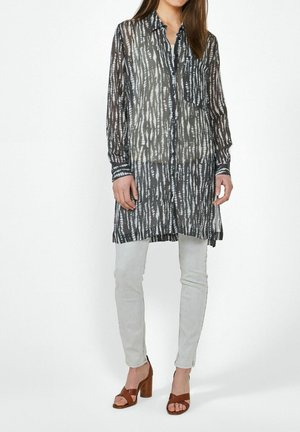 Button-down blouse - anthrazit