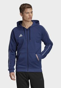 adidas Performance - CORE 19 HOODIE - veste en sweat zippée - blue - 0