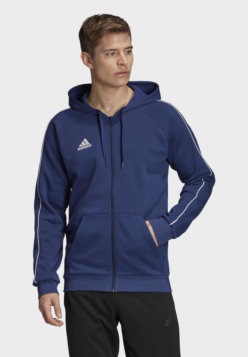 adidas Performance - CORE 19 HOODIE - veste en sweat zippée - blue