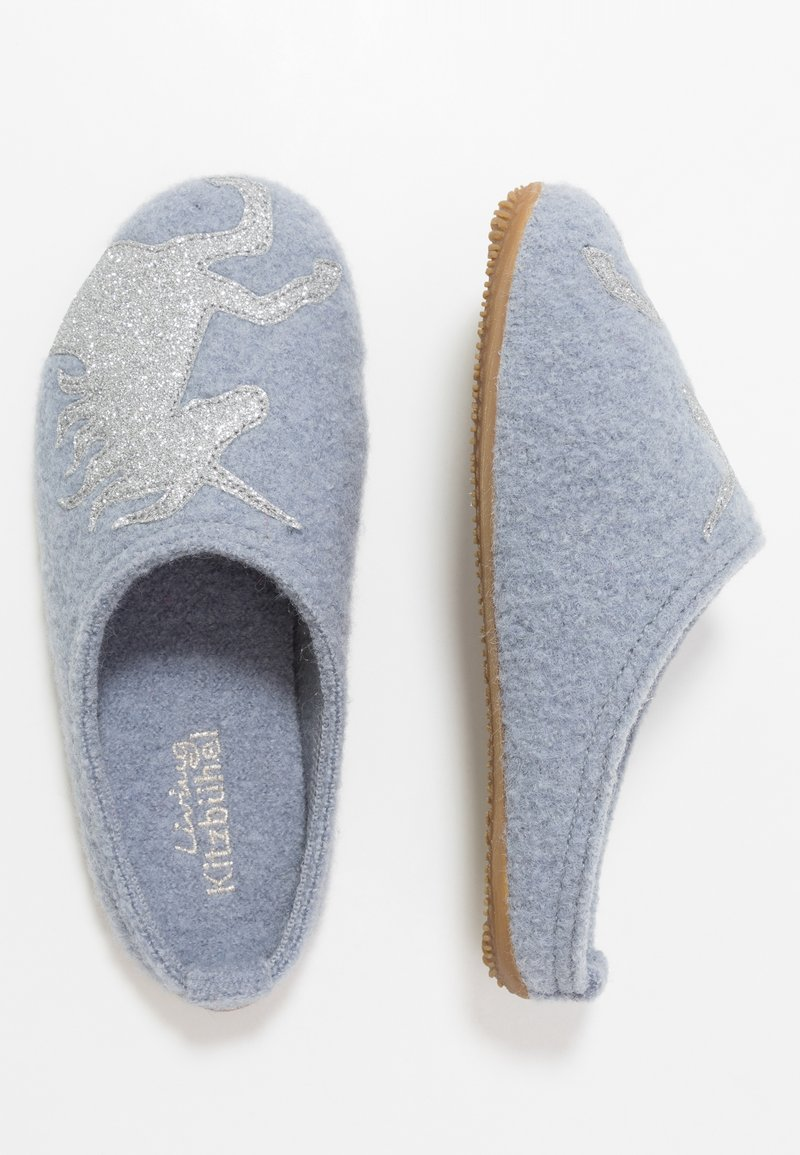 Living Kitzbühel - PANTOFFEL MIT EINHORN - Domácí obuv - pearl blue