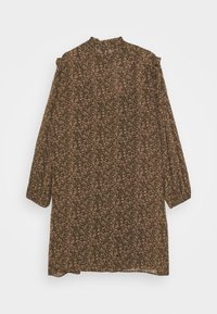 Vero Moda Curve - VMELINA SHORT DRESS - Day dress - ivy green/multi - 1