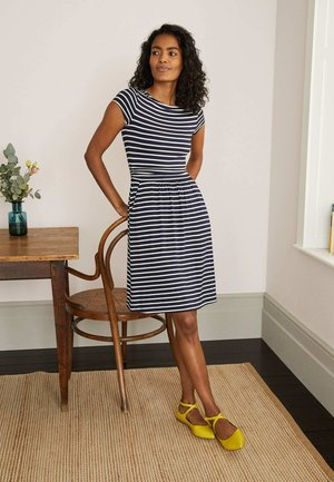 AMELIE  - Jersey dress - navy/naturweiß