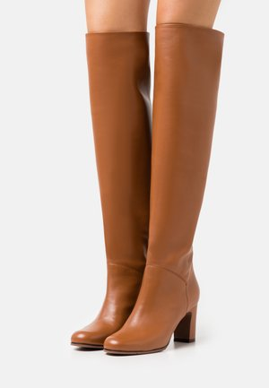 BOOT NO ZIP - Kozačky nad kolena - mid brown