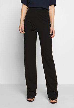STRAIGHT PANT - Trousers - black
