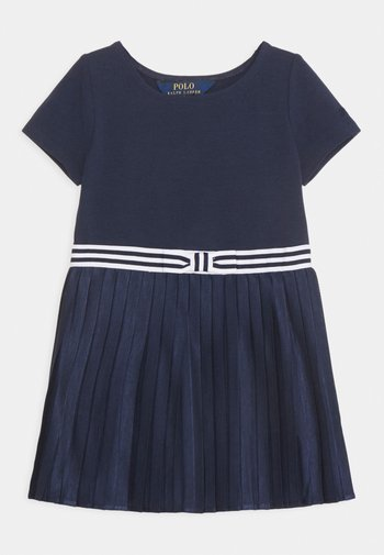 PLEATED DRESSES - Jersey dress - french navy